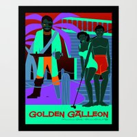 Golden Galleon Muffler Man - Ocean City NJ Art Print
