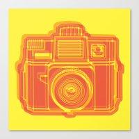 I Still Shoot Film Holga Logo - Yellow & Red Canvas Print