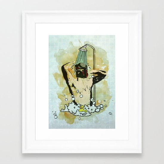 Showering that Sarlacc Off Framed Art Print
