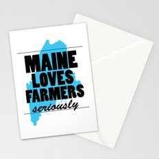 Maine loves farmers, seriously. Stationery Cards
