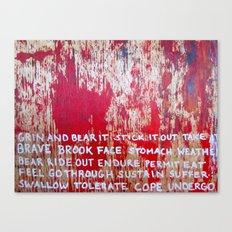 BEAR PAIN Canvas Print