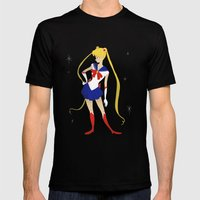 Sailor Moon Mens Fitted Tee Black SMALL