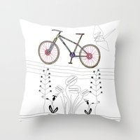 Photo Bicycle Throw Pillow