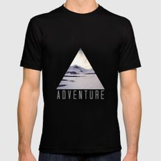 mountain adventure SMALL Mens Fitted Tee Black