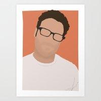 Seth Rogen Digital Portr… Art Print
