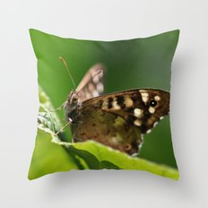 Speckled Wood Butterfly 1 Throw Pillow