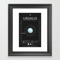 OMG SPACE: Uranus 1970 - present Framed Art Print