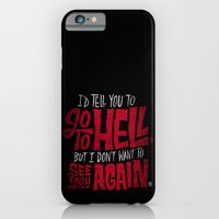 iPhone & iPod Case featuring Don't Go To Hell by Chris Piascik