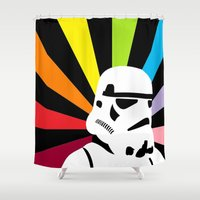 After the Storm... Rainbow Trooper Shower Curtain