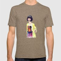 Fashion Illustration . Oriental Girl Mens Fitted Tee Tri-Coffee SMALL