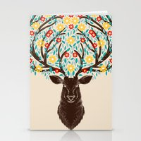 Blooming Deer Spring Stationery Cards
