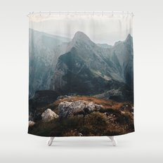 Morning On The Edge Shower Curtain