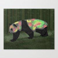 Panda Night Canvas Print