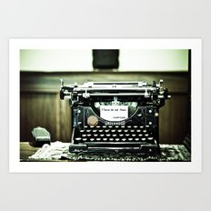 You don't write anymore... Art Print