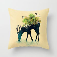 Watering (A Life Into It… Throw Pillow