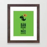 Occupy Jurassic Park Framed Art Print