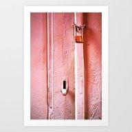 Locked Door Art Print