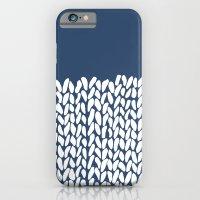 Half Knit Navy iPhone 6 Slim Case