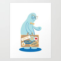 You're My Human Holiday Art Print