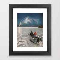 Ride Towards The Lightning Framed Art Print