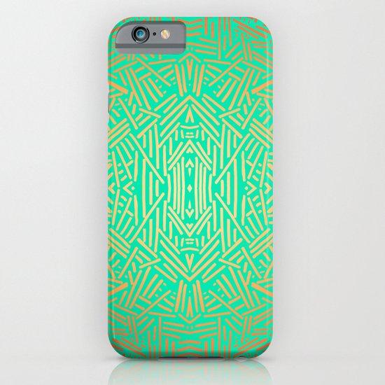 Radiate (Yellow/Ochre Teal- non metallic) iPhone & iPod Case