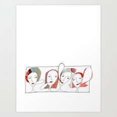 Le Quattro Grazie Art Print