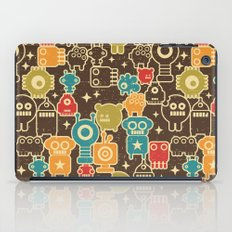 Robots on brown. iPad Case