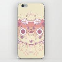 Cat Flowers iPhone & iPod Skin