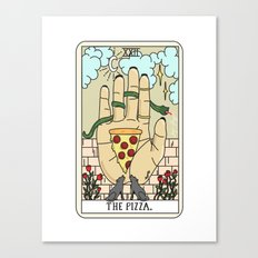 PIZZA READING Canvas Print