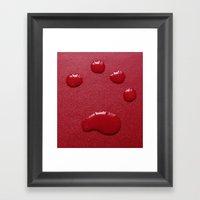 Water Paw-Print Framed Art Print
