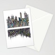 Geometric Versus Organic Stationery Cards