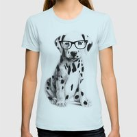 Bingo Womens Fitted Tee Light Blue SMALL