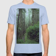 Green Scene. Mens Fitted Tee Athletic Blue SMALL