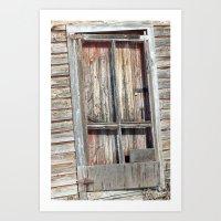 Smokey Lake Farm Door 2 Art Print