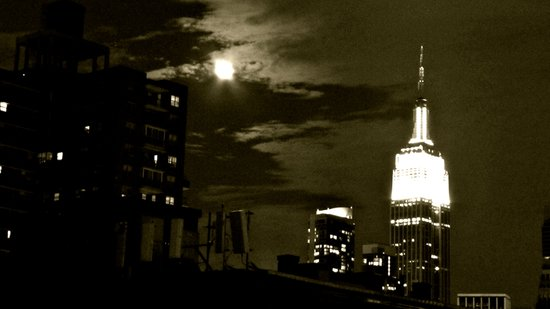 NYC under the moon Art Print