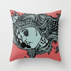 Phases of the Moon, Lady of the Sea Throw Pillow