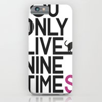 iPhone & iPod Case featuring YOLNT. YOU ONLY LIVE NINE TIMES. by Grant Pearce
