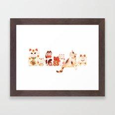 Maneki Neko Framed Art Print
