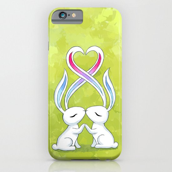Bunny Kiss iPhone & iPod Case