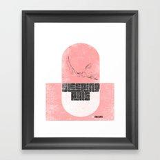 Sleeping pills Framed Art Print