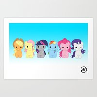 Hello Pony  Art Print