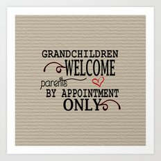 Grandchildren Welcome Art Print