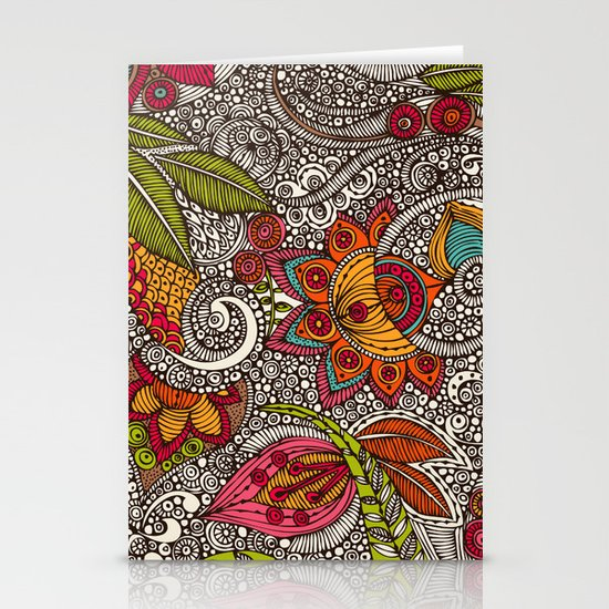 Random Flowers Stationery Card