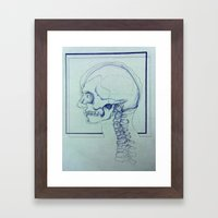 Skull Portrait Framed Art Print