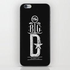 The Big D (wht) iPhone & iPod Skin