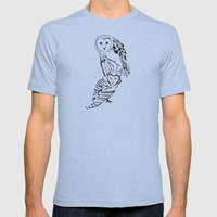 Owls Mens Fitted Tee Athletic Blue SMALL