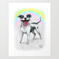 I Love Pitbulls Art Print