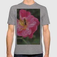 Flower Bee Mens Fitted Tee Athletic Grey SMALL