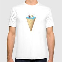 Melting Mens Fitted Tee White SMALL