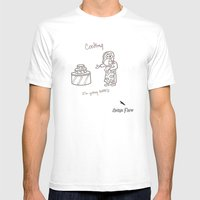 Cooking Mens Fitted Tee White SMALL